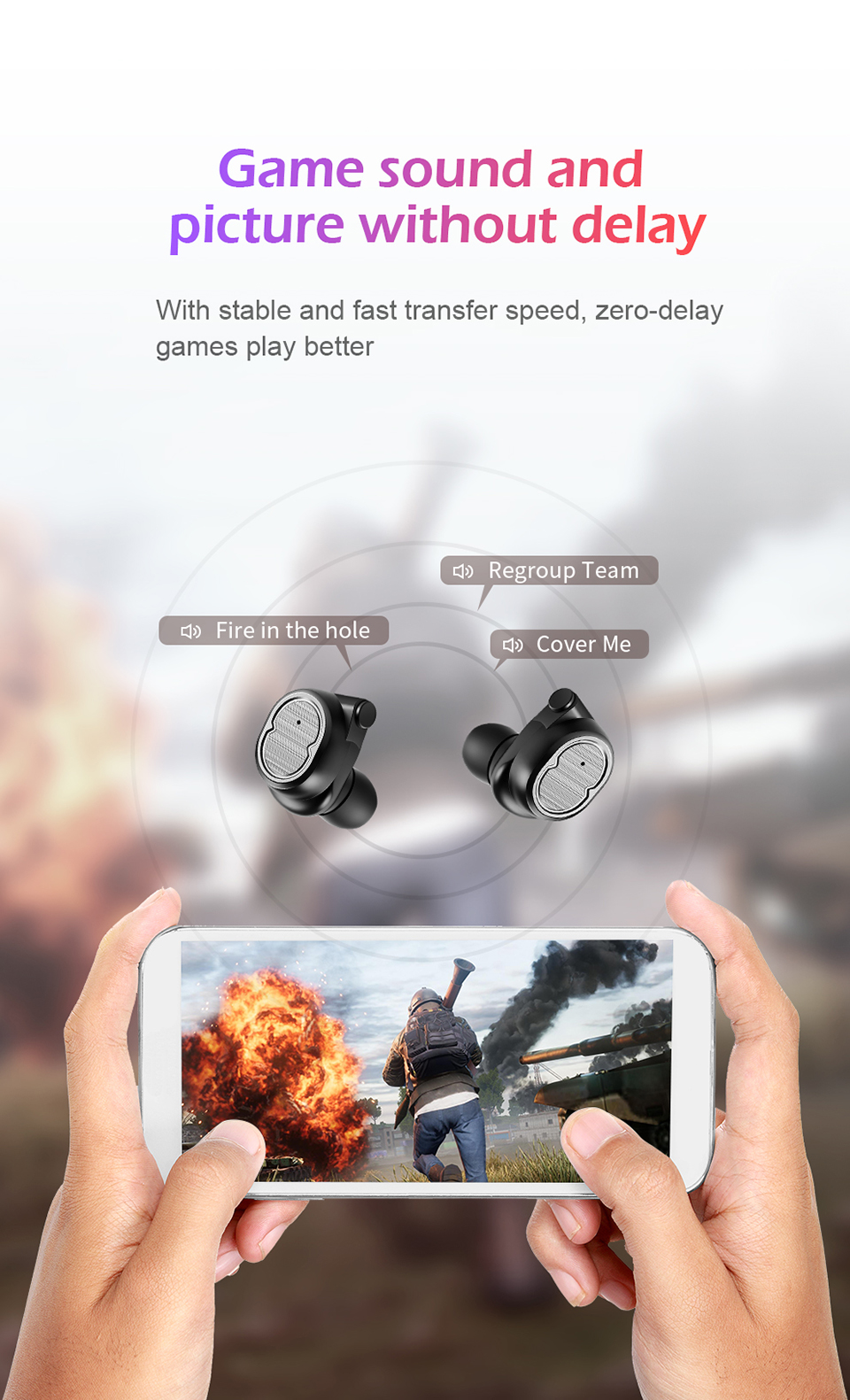 SANLEPUS Bluetooth Earphones True Wireless Earbuds TWS 5.0 Sports Earphones Stereo Bass Headset Noise Cancelling For Phones