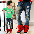 2015 Winter spring thick kids pants warm fleece boys jeans children jeans for boys casual denim pants 4-12Y toddler clothing