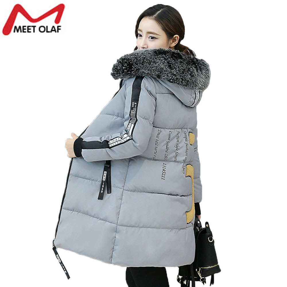 ФОТО Winter Women Print Parkas Down Cotton Padded Warm Coat Long Pathchwork Plus Size Overcoat Wadded Parka YL117