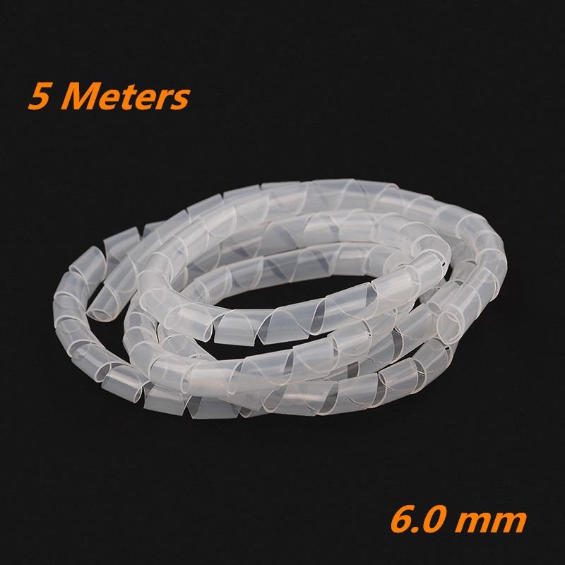 1 Pack (5 Mt) X Weiß Spiralkabel Drähte Ordentlich Wrap Pc Home Cinema Tv Management Organisation Kit 6mm Verpackung Sparen Sie 50-70%