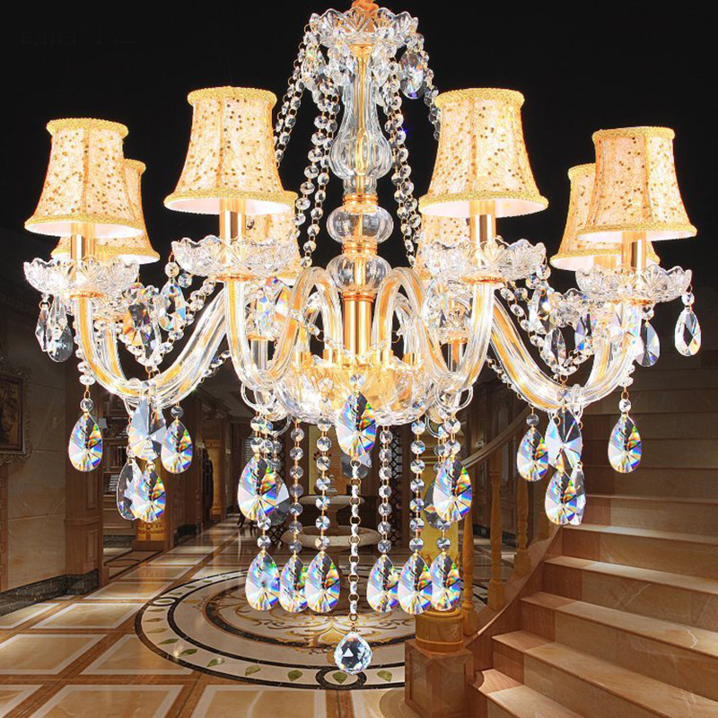 Modern Crystal Chandeliers Home Lighting lustres de cristal Decoration Luxury Candle Chandelier Pendants Living Room Indoor Lamp luxury crystal chandelier light living room lamp lustres de cristal indoor lights crystal pendants for chandeliers free shipping