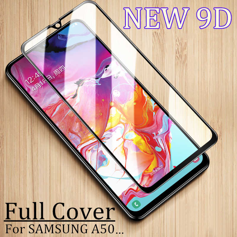 9D Full Cover Screen Protective Glass For SAMSUNG M10 M20 M30 A10 A20 A30 A50 A70 A6 A7 A8 A9 2018 Tempered Glass Protector Film