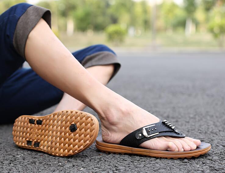 Playa Sandalias Tamaño Clásicos Color Gran Verano Hombre Antideslizante Zapatos Ligero Sólido Hombres De 237 Los qfwvAUnZw4