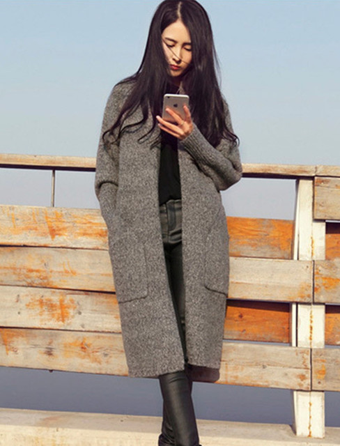 New 2016 Winter Autumn Sweater Coat Jacket Lady's Warm Outerwear ...