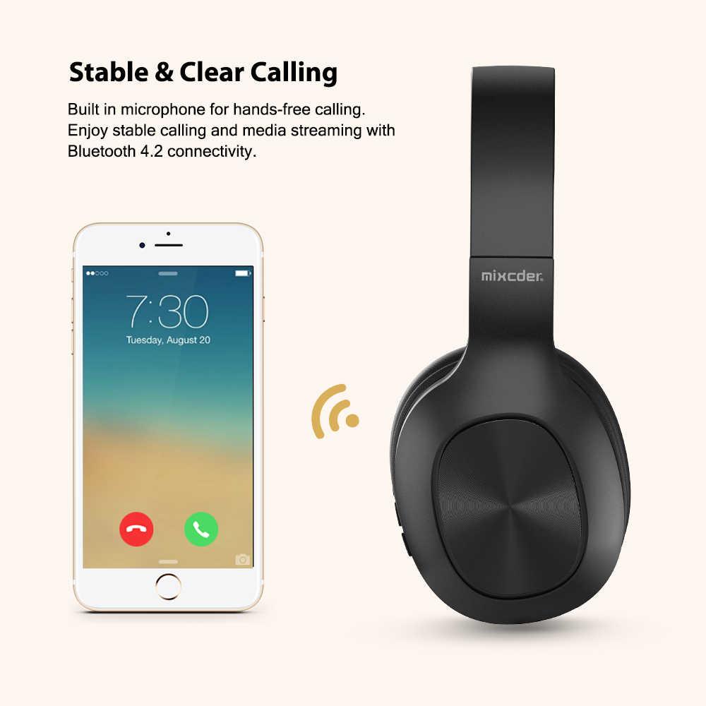 Mixcder HD901 bezprzewodowy zestaw słuchawkowy Bluetooth słuchawki douszne przewodowe bezprzewodowy/a słuchawki składany Bluetooth 4.2 zestaw słuchawkowy z mikrofonem TF karty