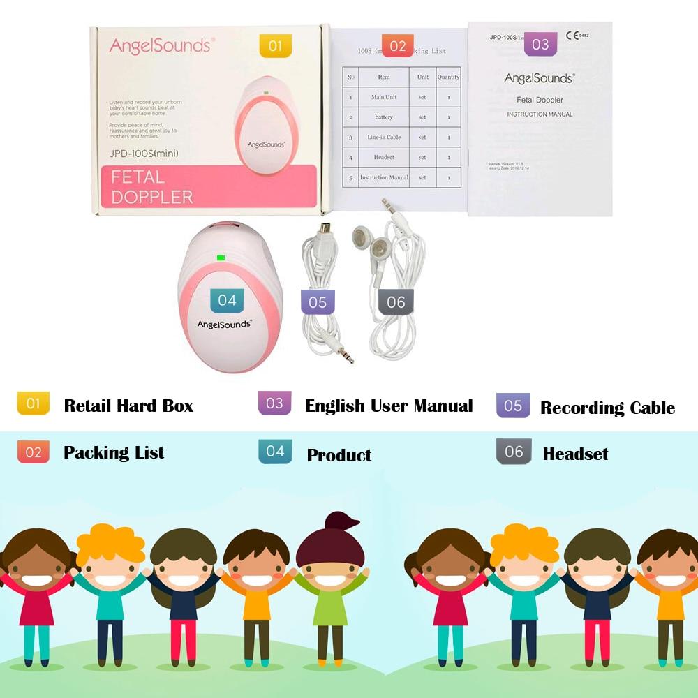 Angelsound Jumper 100 smini Fetal Doppler Baby Monitor Hohe Qualität 3 mhz
