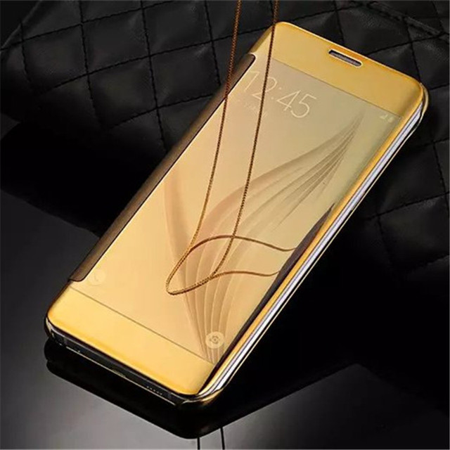 new style acb93 7a781 US $9.07 |Luxury S9 Gold Plating Mirror Flip Case For Samsung Galaxy S9 /  S9 Plus Back Cover Luxury Clear View Smart Stand Leather s9 on ...