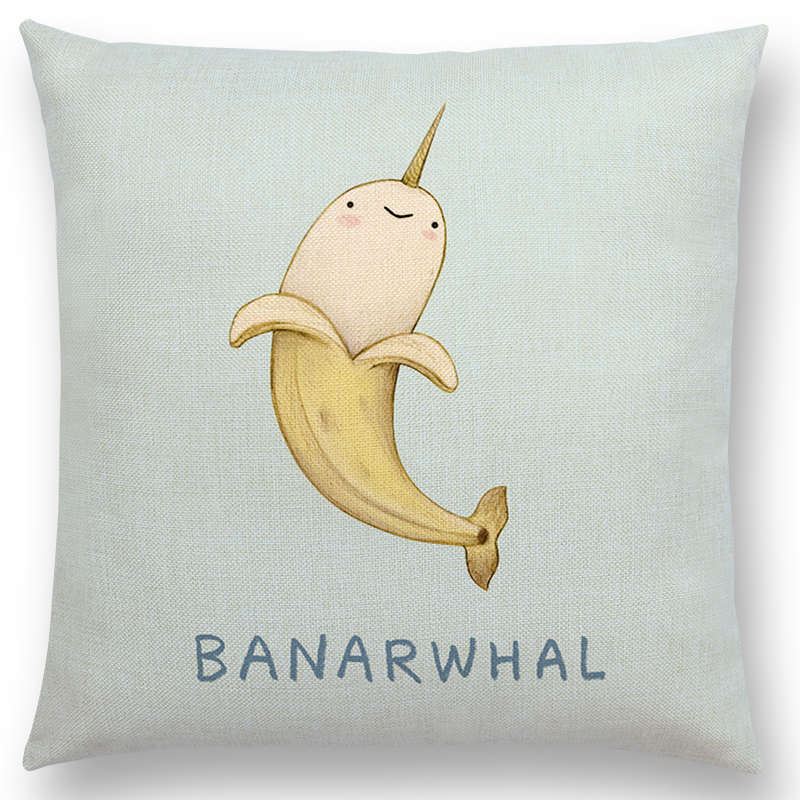 Super cute cartoon animals funny nickname unicorn narwhal super cute cartoon animals funny nickname unicorn narwhal dachshund pug flamingo cushion cover home decor sofa throw pillow case in cushion cover from home voltagebd Gallery