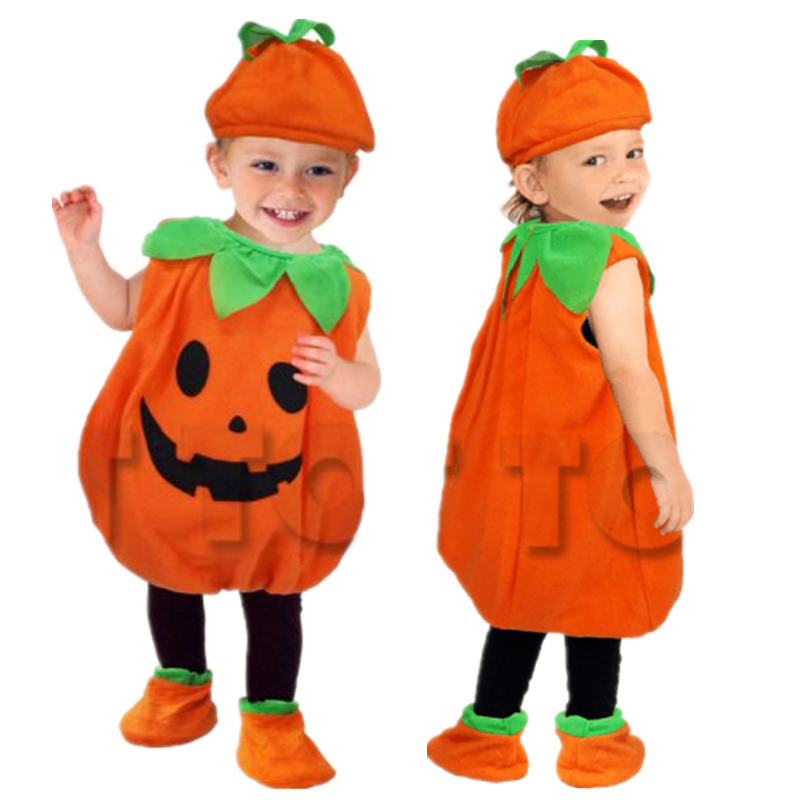 Halloween Party Costumes Toddler Baby Pumpkin Costume Cosplay for Baby Girl Boy Fancy Dress 80 150cm-in Game Costumes from Novelty & Special Use