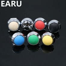 1pc 12mm Stainless Steel Colorful Momentary Horn Door Bell Power Push Button Siwtch Screw Feet Terminal Car Auto Engine Start PC