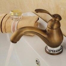 Nouveau en laiton Antique bronze robinet salle de bains évier robinet chine bleu et blanc porcelaine vintage robinet mélangeur évier robinet