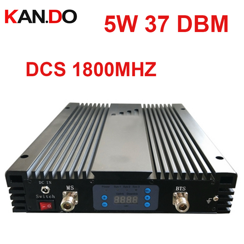 No Interfer To Base Station 5W 37dbm 85dbi DCS Repeater AGC/MGC DCS 1800MHz Signal Booster DCS BOOSTER 4G Band 3 Repeater