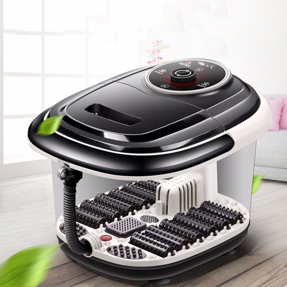 Multifunctional Fully Automatic Electric Roller Feet Basin Heating Foot Tub Foot Massage Machine Foot Spa Bath Massager кпб tj 11
