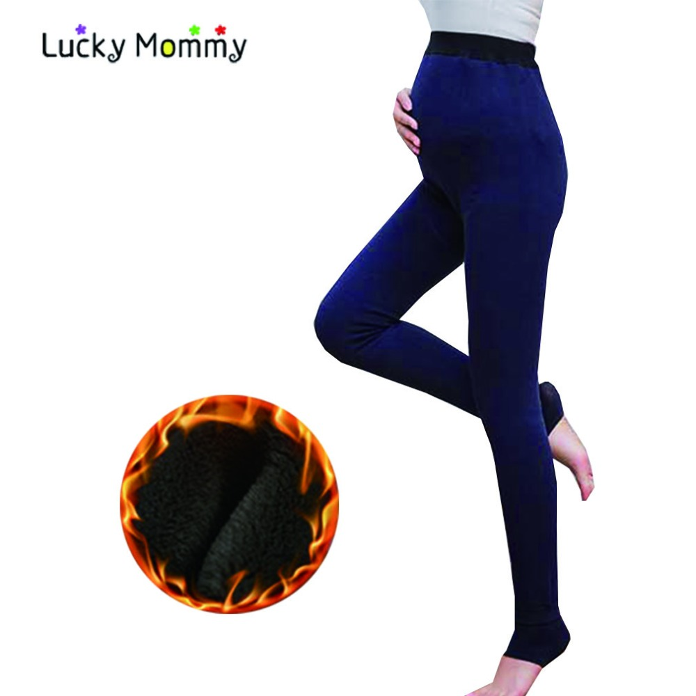 Maternity Leggings High Waist Winter Warm Pregnancy Clothes for Pregnant Women Plus Size Maternity Legging Pants Ropa Premama leiji fashion blue s 6xl 2017 woman mid waist plus size women leggings high elastic skinny pencil jeans capris pants femme