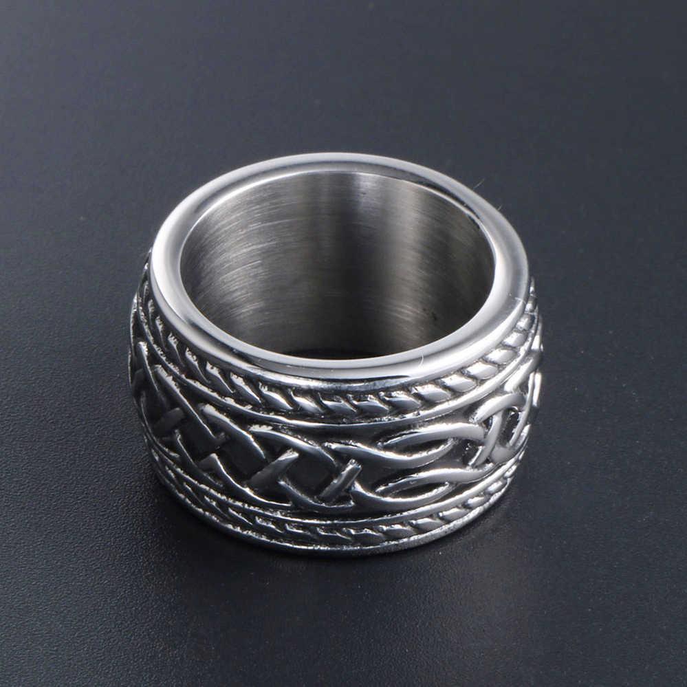 COOL Men/'s Jewelry Punk Rock 316 L en acier inoxydable Band Ring LR356 SZ 7-13
