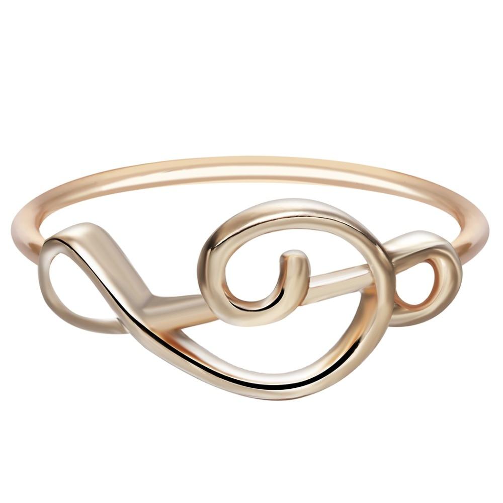 Violinschlüssel Ring gold