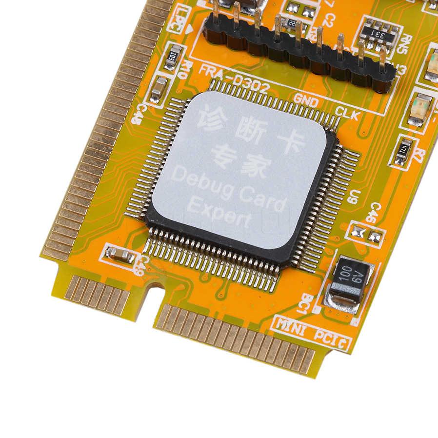 Kebidumei PCI-E LPC PC analizador comprobador POST prueba de tarjeta de plástico/de Metal de alta estabilidad para el ordenador portátil del cuaderno exprés tarjeta Hexadecim