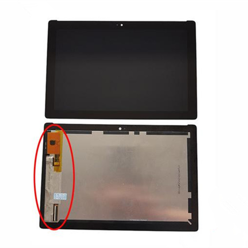 цены Full LCD Display Panel Touch Screen Digitizer Assembly yellow connector 10.1