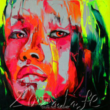 Palette knife portrait Face Oil painting christmas figure canva Hand painted Francoise Nielly wall Art picture218