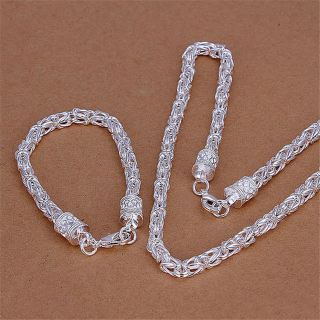 Silver 925 Jewelry Sets 5mm...