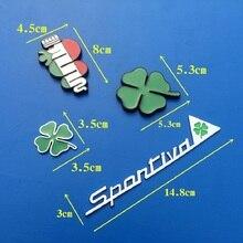 Green Day Emblema Alfa Romeo Para Trevo de Quatro folhas do Trevo De Metal Chrom e com grill Emblema Estilo Do Carro Etiqueta do carro decoração