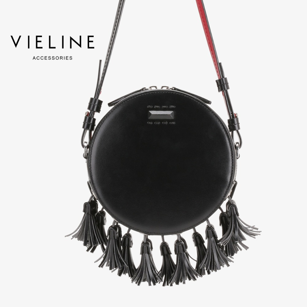 vieline genuine leather shoulder bag ,Independent designer brand real leather women Circular Bags, lady  leather tassel bagvieline genuine leather shoulder bag ,Independent designer brand real leather women Circular Bags, lady  leather tassel bag