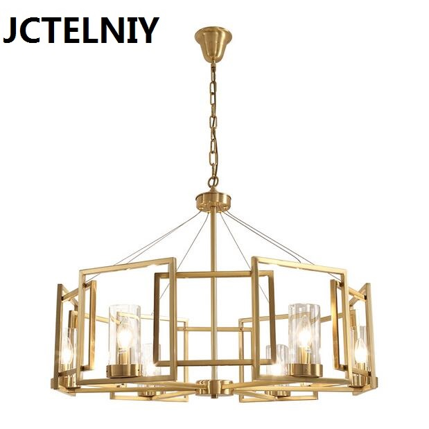Pendant light living room lamps restaurant lamp american style copper brief pendant light a1 master bedroom living room lamp crystal pendant lights dining room lamp european style dual use fashion pendant lamps