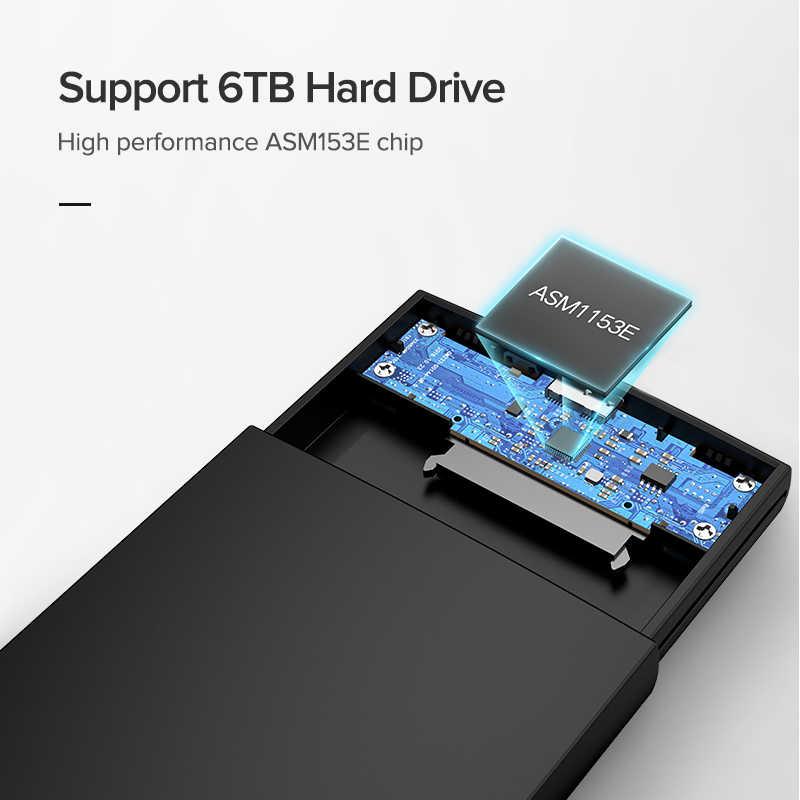 Ugreen 2.5 HDD Case SATA Ke USB 3.0 Usb Hard Drive Eksternal Kandang untuk SSD Disk HDD Case Kotak HD 2.5 SSD Case SATA Ke USB