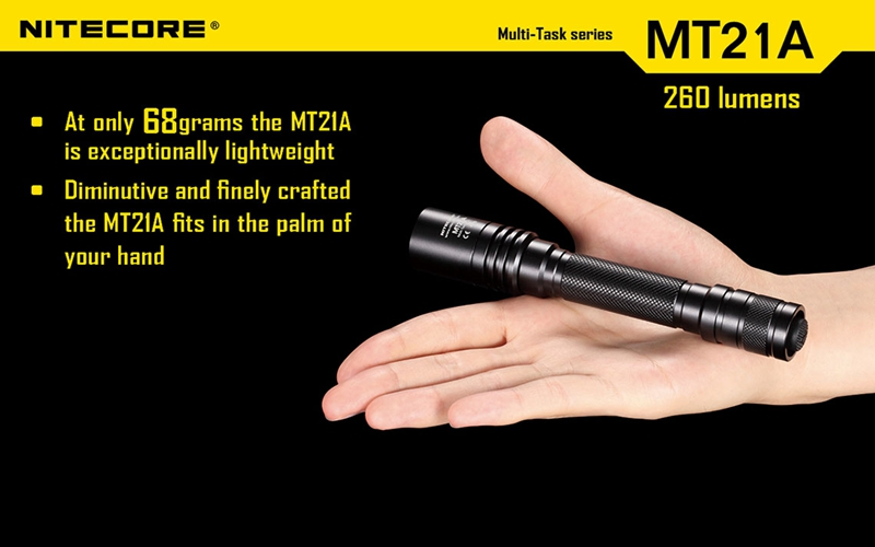 ФОТО Nitecore MT21A 260Lumen XP-E2 R2 LED Flashlight Waterproof Multi-Task 4-Mode With Use 2 x AA Battery for Camping Use Flashlight