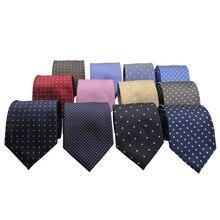 HUISHI 8 cm skinny fashion dot neckties men slim polyester neck tie  Polka Dot Men neckies for Gentlemen