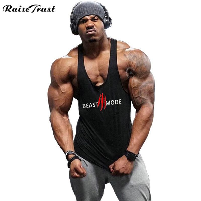 2018 Hot sale   Tank     Top   Men Sleeveless Shirt Bodybuilding Stringer Fitness Men's Cotton Singlets Muscle Clothes Workout Vest B-28
