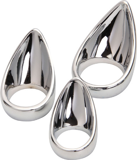 Adult Games Penis Ring Ball Stretcher Stainless Steel Cock Ring Sex Product for Man
