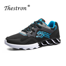 Thestron Hot Sell Mens Athletic Running Shoes Comfortable Male Walking Jogging Black White Man Gym Sport Sneakers Cheap