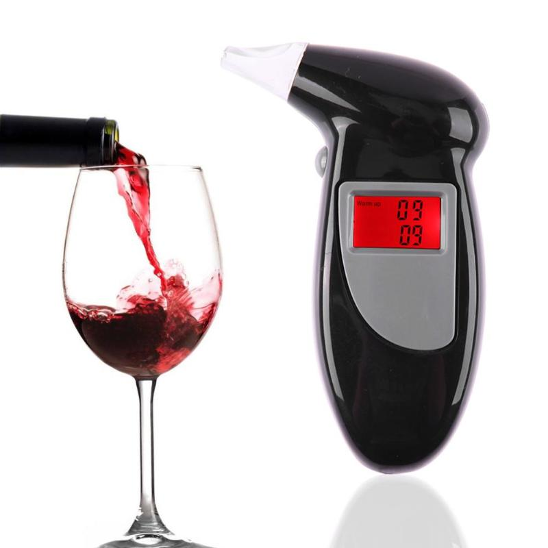 1Pcs Hand Held Blows Digital LCD Alert Breath Alcohol Tester without Battery Prefessional Police Alcohol The Breathalyzer New