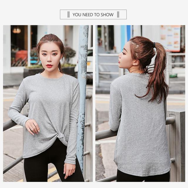 Plus Size Yoga Shirts Gym Clothing For women fitness tops sport shirt women long sleeve L-4XL