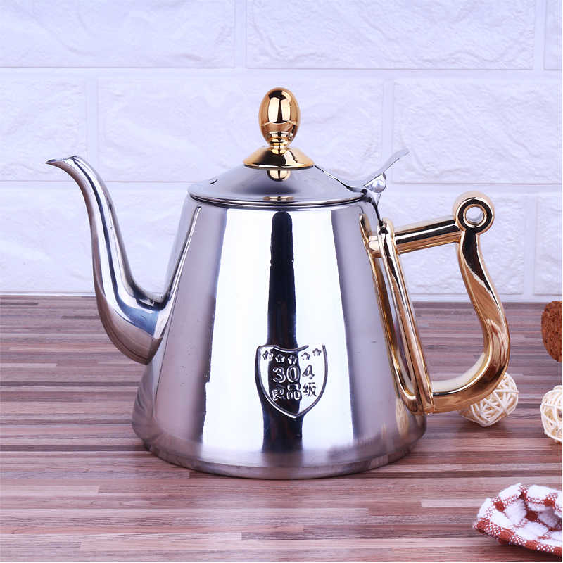 Humanized Handle Mirror Surface Delicate Water Kettle Inner With Tea Filter Induction Cooker Tea Kettle Coffee Pot 1.2L
