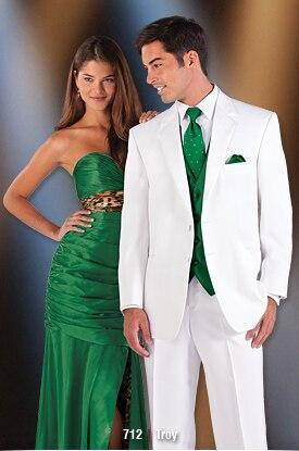 2017 Latest Coat Pant Designs White Wedding Suits For Men Prom Jacket Groom Blazer Skinny Style Suit Custom 3 Piece Tuxedo Terno