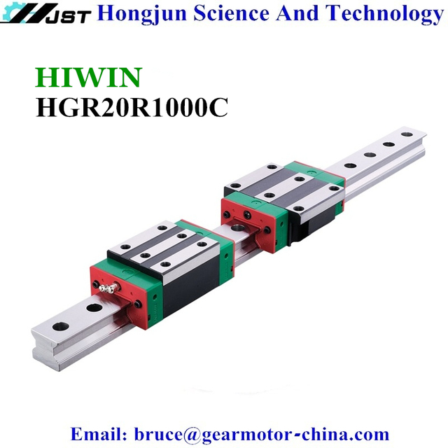 New Original HIWIN HGR20R1000C Linear Rail 20mm width HGR20 1 meter 1000mm length linear motion guide rail HGR20R1000C