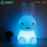 50cm RGB Colorful Rabbit Night Light Children Baby Bedroom LED Night Lamp Color Change Lights With