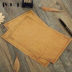 8 folha/lote jwhcj tipo europa vintage videiras grão de madeira kawaii carta papel almofada escrita escritório & escola supplie