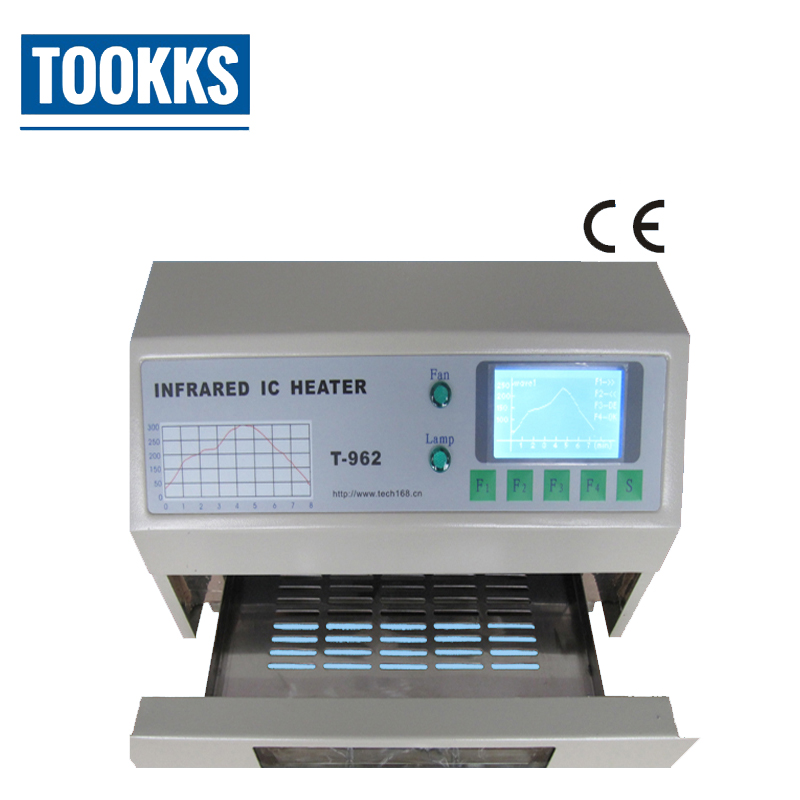 Original Puhui T-962 Infrared IC Heater Reflow Wave Oven Small Wave Soldering Machine Drawer Reflow Oven серьги коюз топаз серьги т311027209