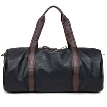 Men's Oil Wax Leather Handbags Large-Capacity Portable Shoulder Bags Men Casual Travel Bags Package