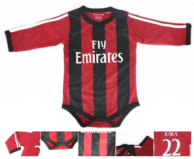 Classic Ac Milan 22 Kaka Baby Onesie Romper Winter Style100 Cotton Longsleeve Soccer Babysuit Color Red Free Shippment Bodysuits Aliexpress