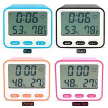 Multifungsi Elektronik Digital Thermometer Hygrometer LCD Timer Alarm Clock Timer(China)