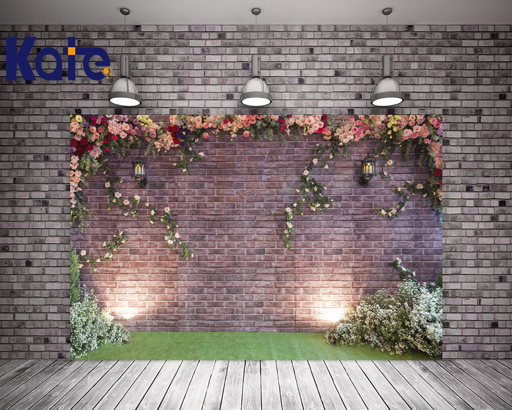Kate 10X10FT  Wedding Brick Wall Camera Fotografie Achtergrond Flower Photocall Washable Photography Background Wedding сумка kate spade new york wkru2816 kate spade hanna