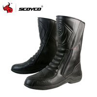 SCOYCO Women Leather Motorcycle Waterproof Boots Motorbike Long Riding Sport Road SPEED Professional Botas Motocross Boots