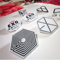 2015 New Korean EXO LOGO Symbol Heart WOLF Head Brooches KPOP Fashion Jewelry Accessories Wholesale