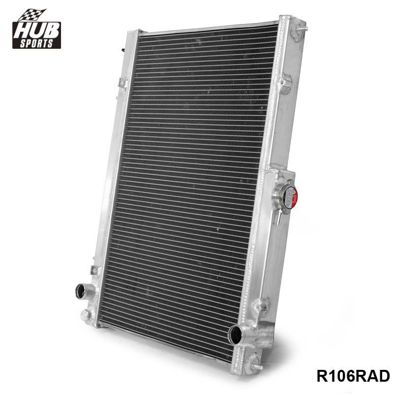 цена на 42MM 2 Row Aluminum Radiator for Nissan Skyline R33 R34 GTR GTST RB25DET MT HU-R106RAD