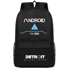 Detroit Become Human Backpack RK800 Canvas Bag Shoulder Travel School Bag For Teenagers Casual Laptop Bag Mochila Escolar