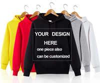Sudadera con capucha personalizada con Logo personalizado para hombre/mujer envío gratis personalizada con dos lados impresión texto Sudadera con capucha